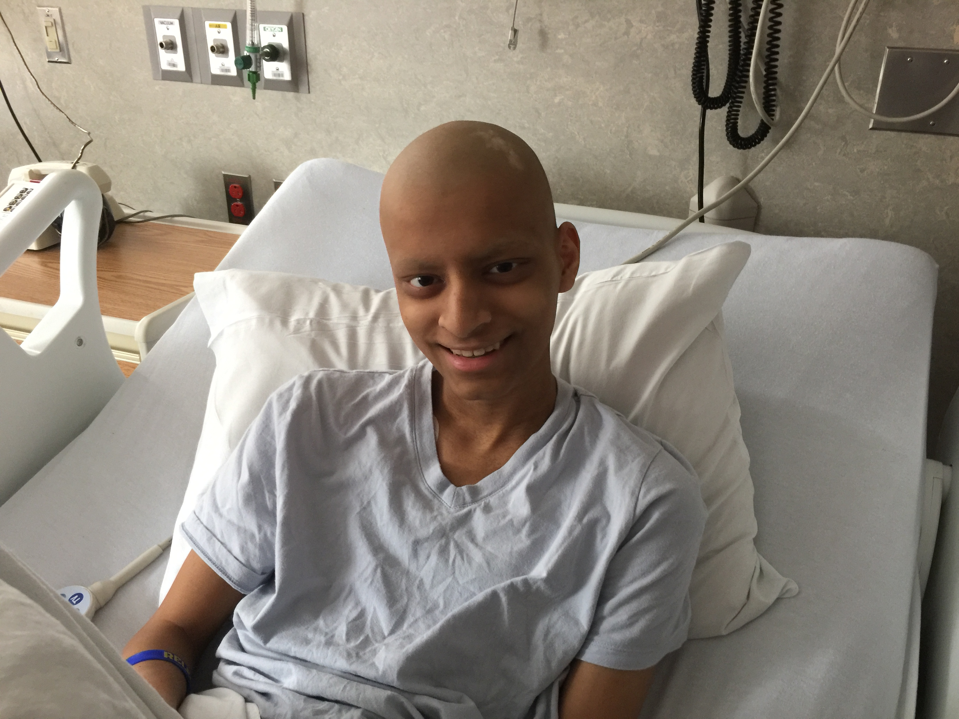 Arnav is battling osteosarcoma, the most common form of childhood bone cancer.