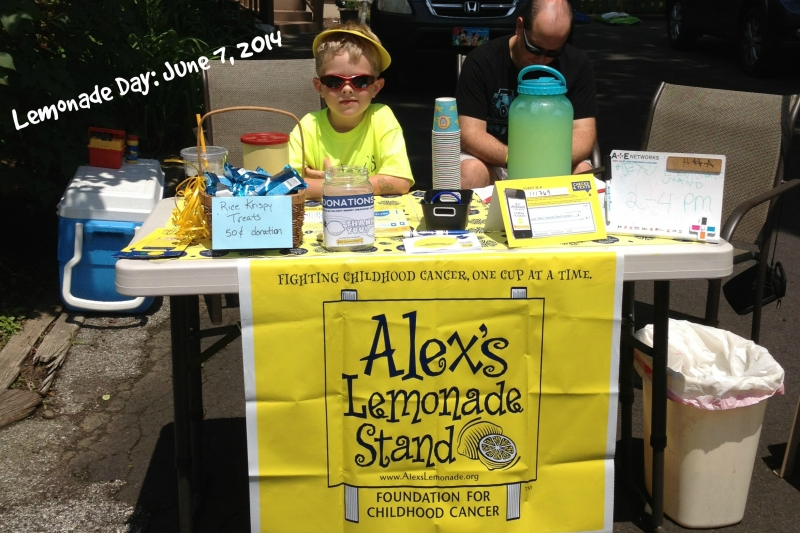 hosting a lemonade stand within a
