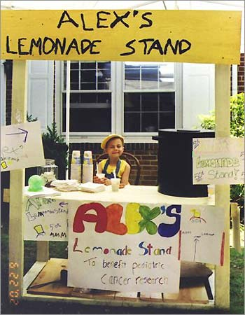Alex at a lemonade stand