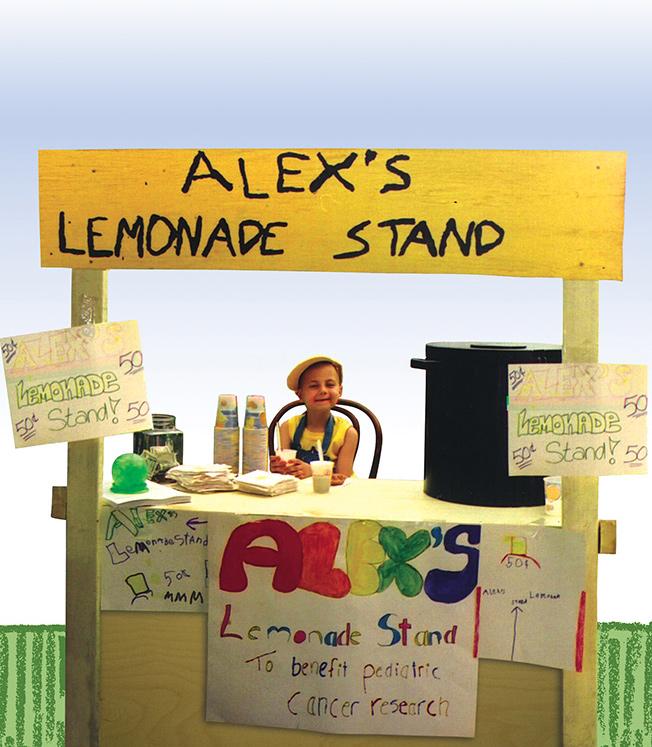 Alex 39 s lemonade stand foundation for childhood cancer for Lemon shaped lemonade stand
