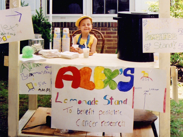 Alex at her stand