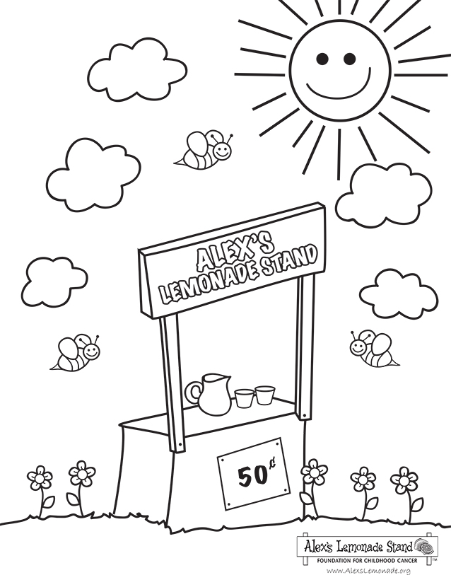 Coloring Activity Pages Alex S Lemonade Stand Foundation For