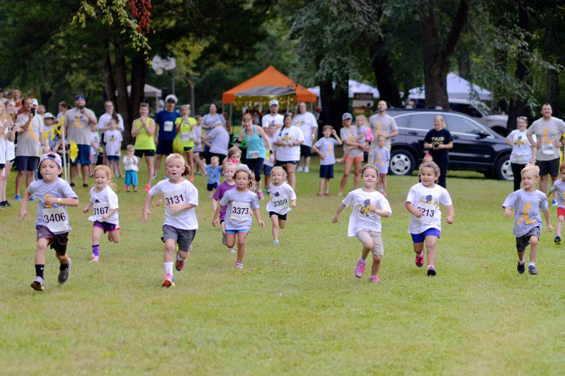 Children running in a fun run