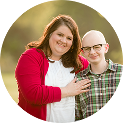 "A childhood cancer hero ""Eli"" and his mom"