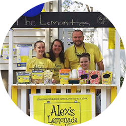 A family at a lemonade stand