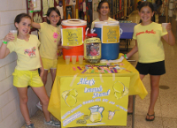 students at a lemonade stand