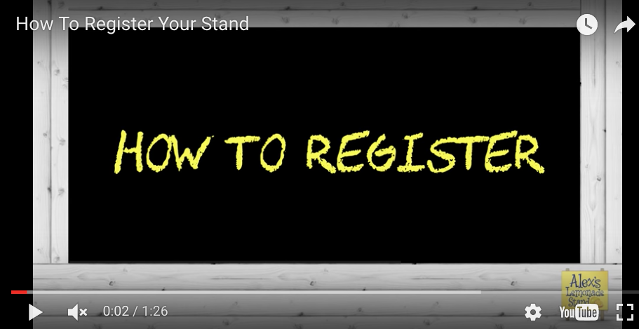 Video of How to Register