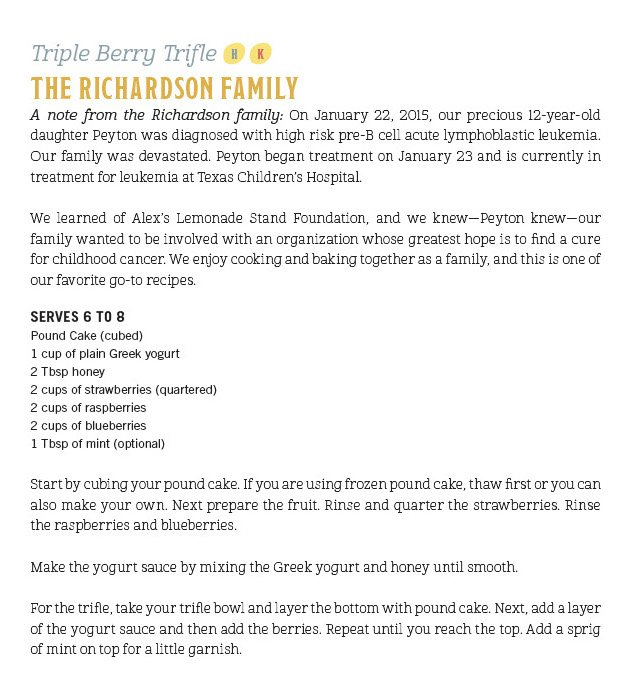 Richardson Family recipe of fruit mix