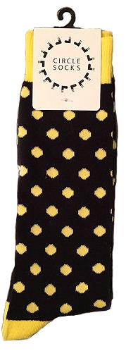 Circle Socks - Black and Yellow ALSF Socks