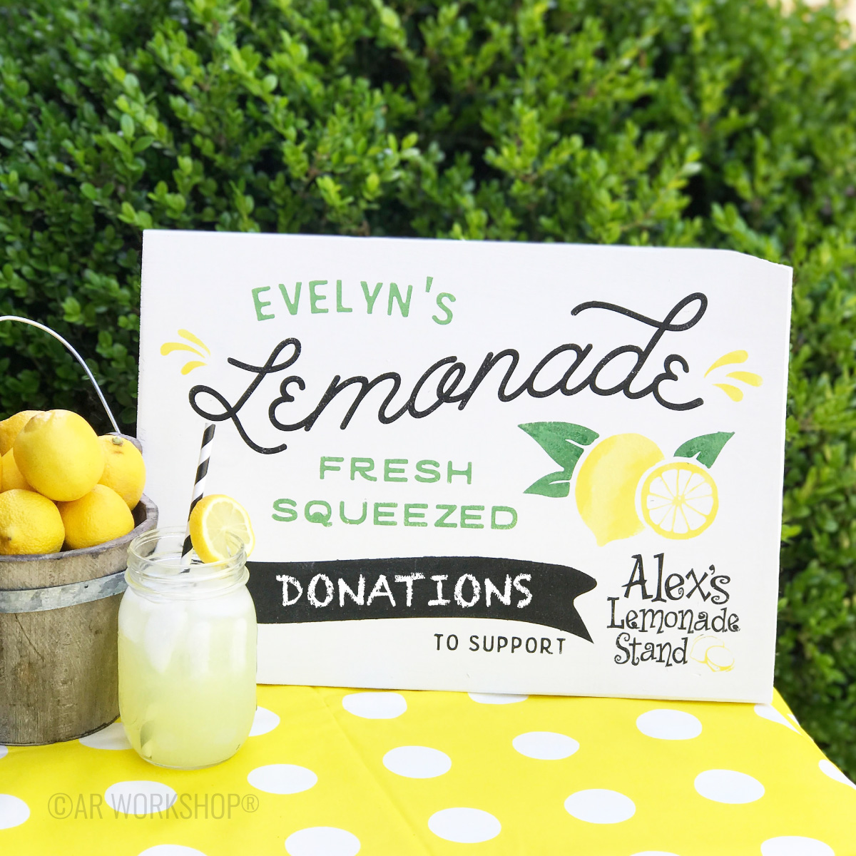 AR Workshop® - Alex's Lemonade Stand Custom DIY Sign or Kit