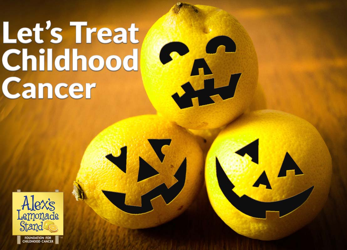 Forget the tricks! This Halloween, let's treat childhood cancer.