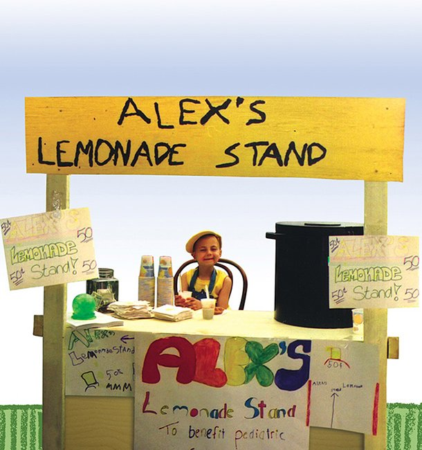 Alexandra Scott at her lemonade stand