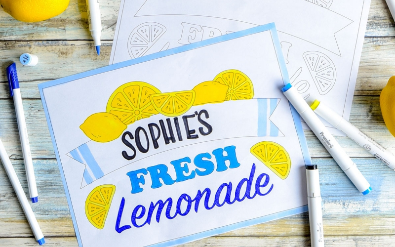 A.C. Moore has great printable templates for custom lemonade stand flyers.