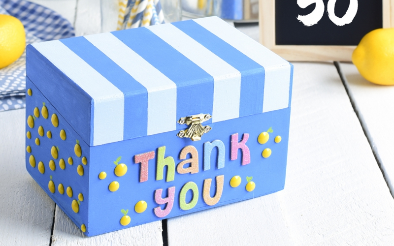 Make your own donation boxes to keep donations safe and secure with this fun project from A.C. Moore.