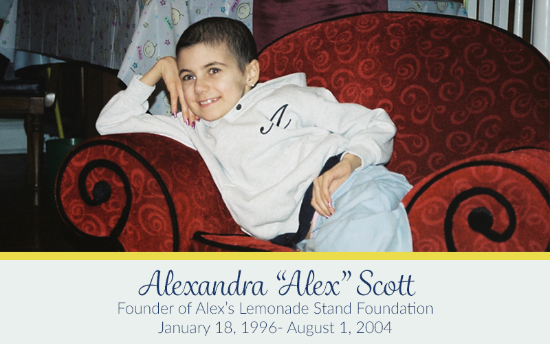 """I can still see her face in my mind, and her different expressions of happiness, sadness, or resting,"" said Liz Scott, of her daughter Alexandra ""Alex""  Scott, the founder of Alex's Lemonade Stand Foundation."