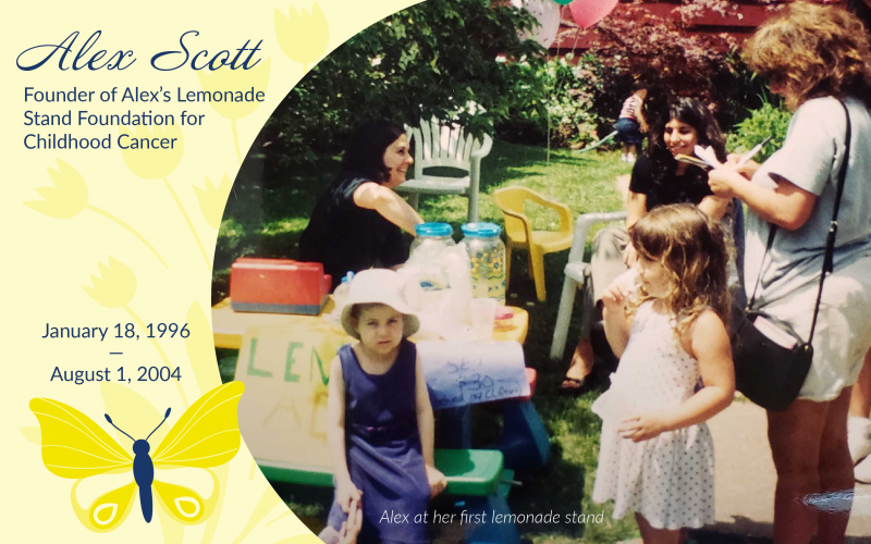 Alex at her first lemonade stand