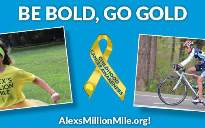 Go gold in September with Alex's Million Mile.