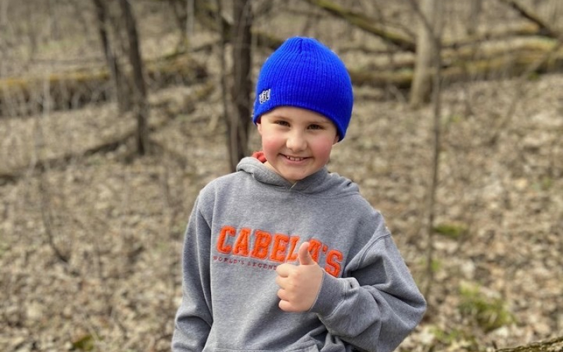 Beau, who is 8 years old, was diagnosed with ependymoma in March 2020. His treatment includes proton radiation, at a center 2.5 hours away from his home.