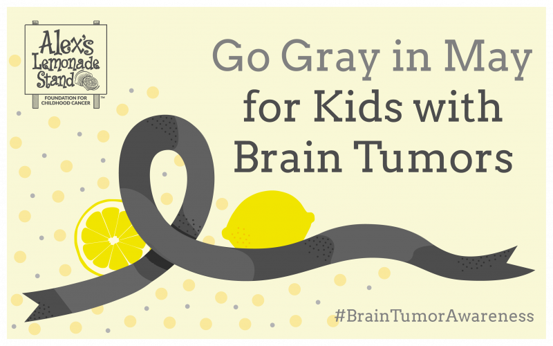 May is Brain Tumor Awareness Month. You can help children with brain tumors by sharing the facts, raising awareness and supporting childhood cancer research