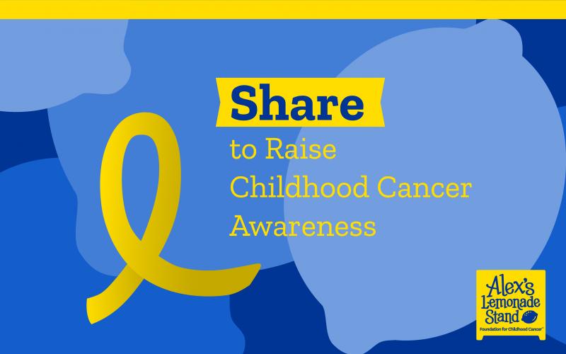 childhood cancer share ribbon