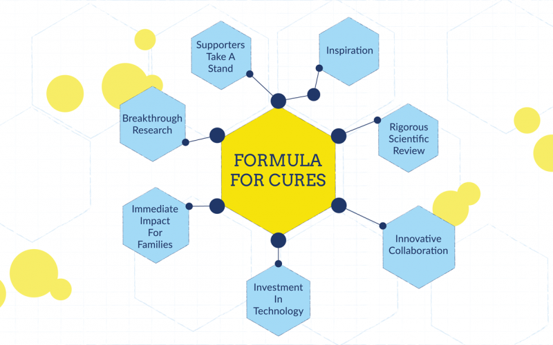 This is ALSF's Formula for Cures. It starts and ends with the inspiration of supporters, heroes and researchers.