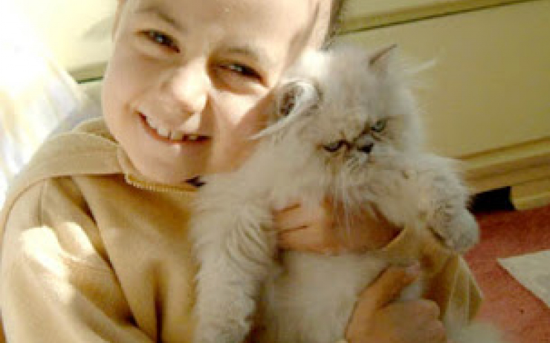 Alex, with her cat Herbert. Herbert was one of Alex's great loves.