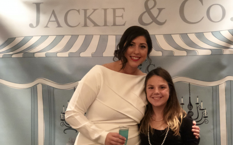 """""""We all need to remind ourselves every day that there are more important things in the world than a pretty white dress, big cake, and the right angles for a perfect wedding portrait. We came together for love in more ways than one that day,"""" said Jackie, who supported ALSF at her bridal shower."""