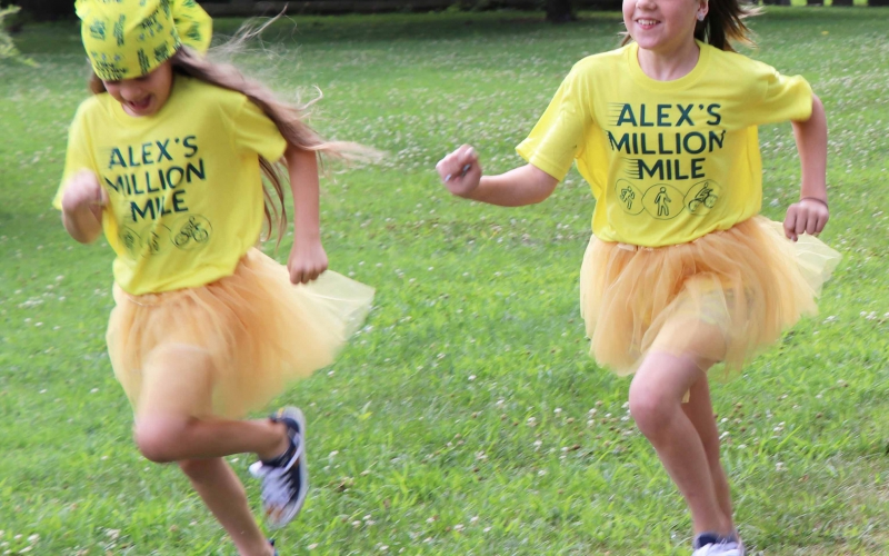 Held each September, Alex's Million Mile is a month long fundraising challenge to benefit childhood cancer research. Whether you are a casual walker or jogger, an avid cyclist or a marathoner, YOU can make a difference in the lives of children fighting cancer.
