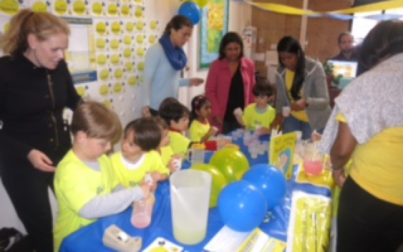 A few years ago, I learned about an amazing cause called Alex's Lemonade Stand Foundation (ALSF). As an educator of young children, I was instantly inspired by this organization and its founder Alex Scott.  I thought—if one 4 year old could make a difference, imagine what I could do with an entire class? I did some more research and learned that every year children across the U.S. still hold lemonade stands to raise money for pediatric cancer research, and I began to lesson plan!