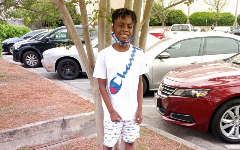 childhood cancer hero Kingsley