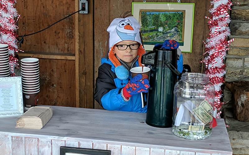 Winter is a great time to support ALSF! Swap the lemonade for hot chocolate!