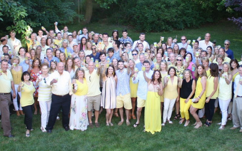 """""""Unfortunately it seems that almost every person's life has been touched by cancer in some way. Because of that, everyone could appreciate and support the cause and they were all more than happy to donate rather than buy us gifts,"""" said Molly, who hosted a lemonade stand at her June engagement party."""