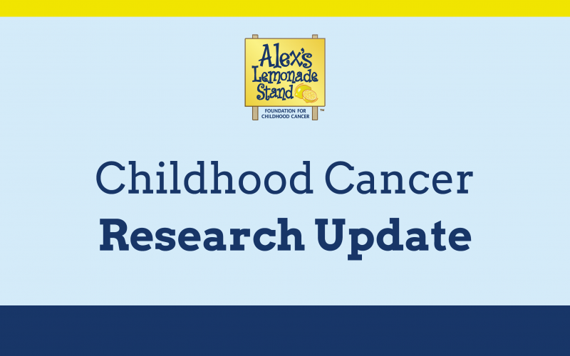 childhood cancer research update