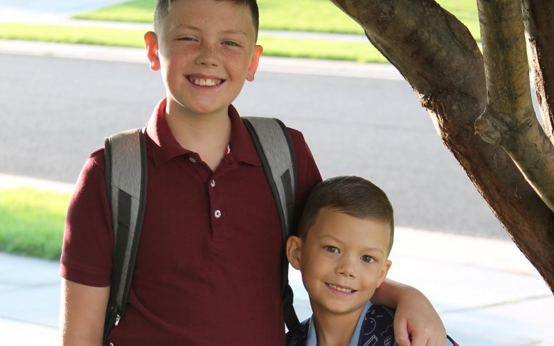 """Nine-year-old Dylan had his entire world shifted when his brother Ryan was diagnosed with leukemia.  """"I think both of them have had to grow up way faster than they should have because of this,"""" said Jennifer, Dylan and Ryan's mom."""