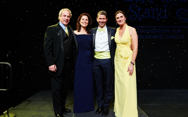 Pictured above, Jeff and Kristy Kennedy with Liz and Jay Scott at the 2019 Lemon Ball.