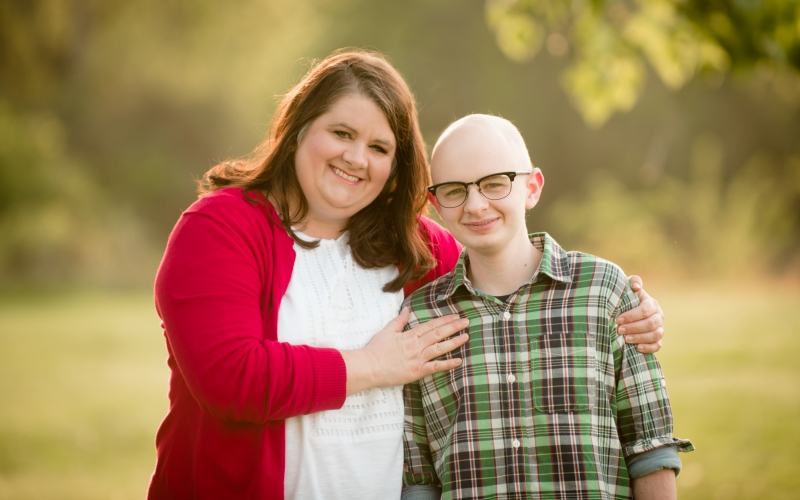 Dawn Talley, with her son Elijah Talley. Elijah battled neuroblastoma.
