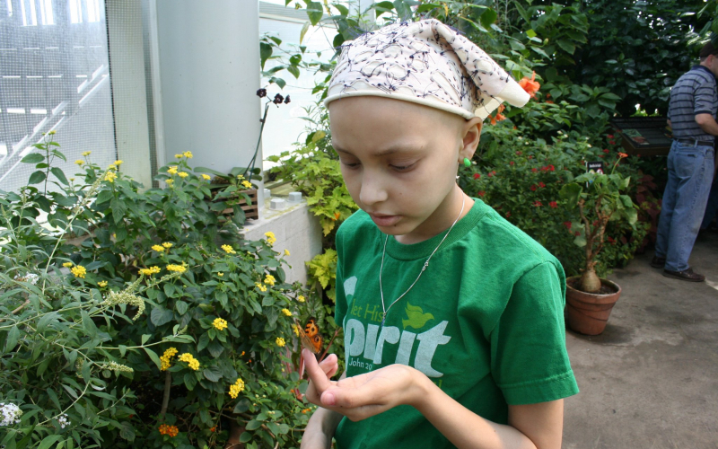 Eighteen months after completing treatment for osteosarcoma, Taylor, pictured above, relapsed.