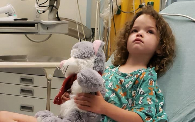 Six-year-old Tillerywas diagnosed at 15 months old with a brain tumor.