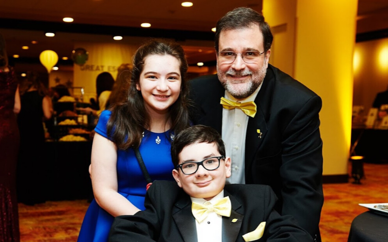 Tony Salerno, Dad to childhood cancer hero Tony and SuperSib Samantha