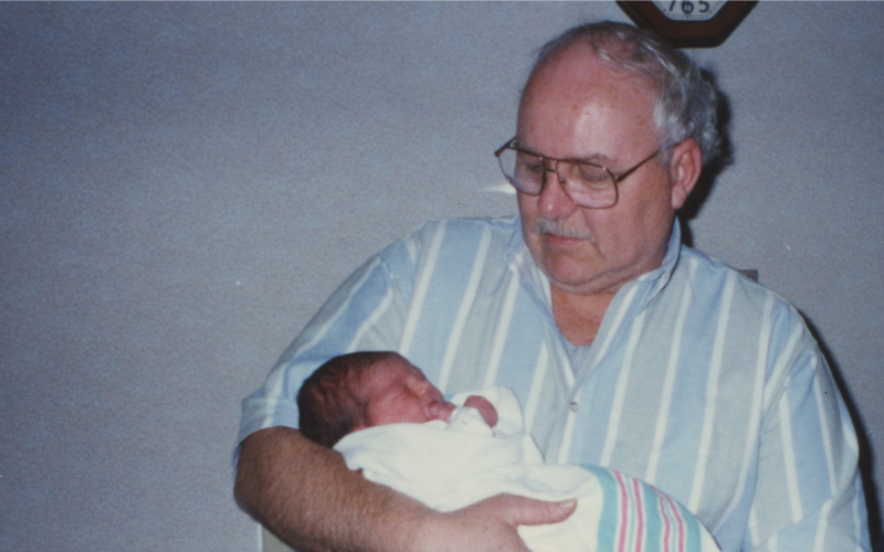 patrick scott with granddaughter alex