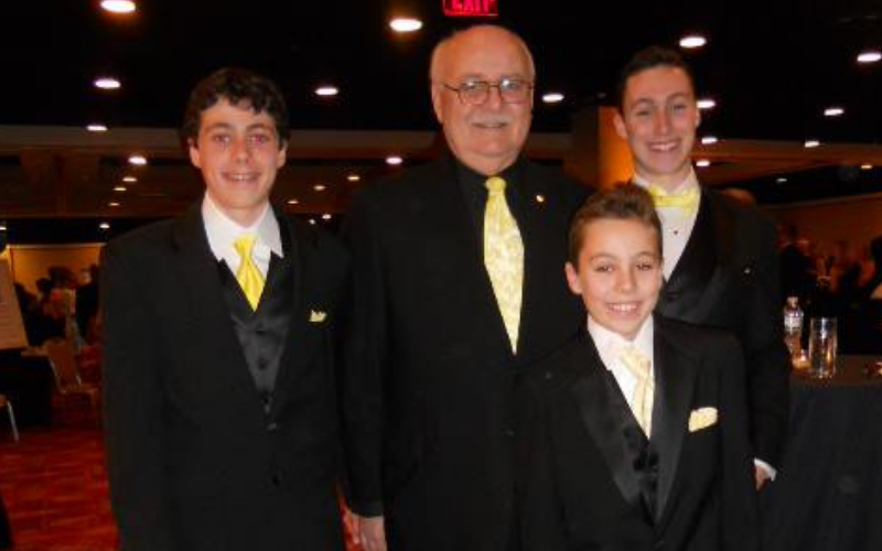 jay scott's dad patrick with grandsons