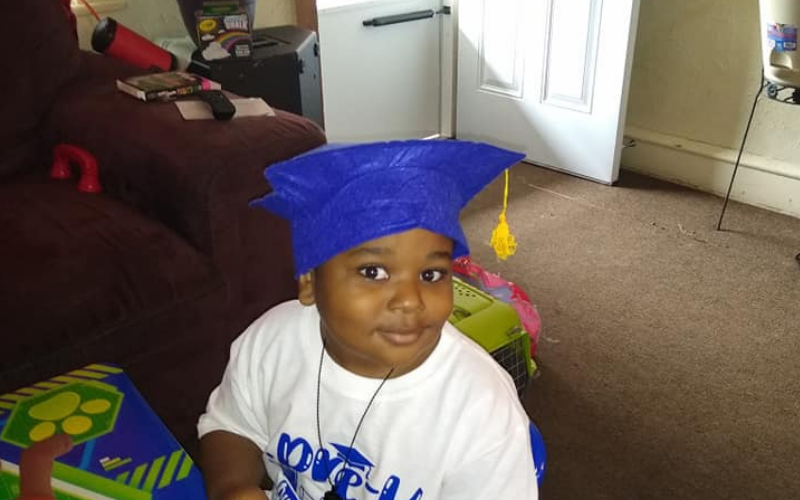 Raymeer battled synovial sarcoma. Last year, he graduated kindergarten.