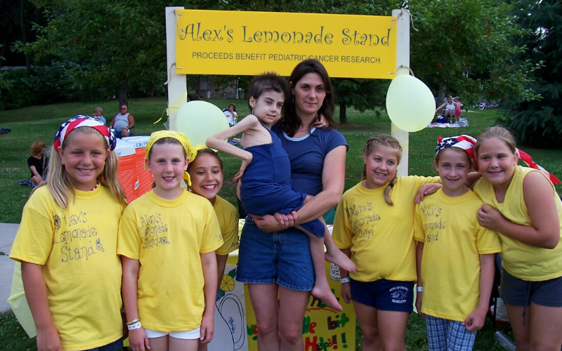 The King of Prussia Lemonade Girls had an honor of meeting Alex at one of their summer stands.