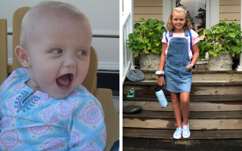 Edie was just 6 months old when she was diagnosed with neuroblastoma. Today, Edie is celebrating her 11th birthday, cancer-free.