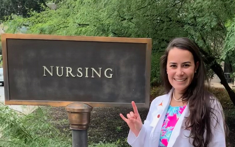 After witnessing her sister's battle with cancer, Cara decided to become a nurse.