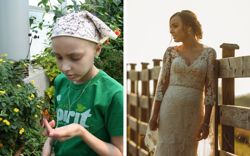 Taylor was 11 years old when osteosarcoma entered her life. Today, Taylor is 25 years old, cancer-free and celebrating her 1st year of marriage