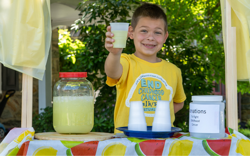 cup of lemonade at stand