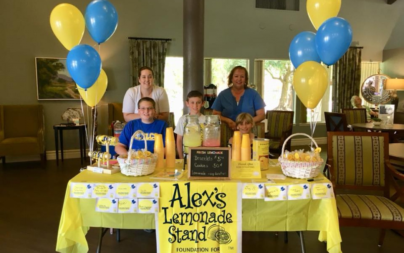 If variety is the spice of life, the Wamsley family had the tastiest lemonade stand in Riverside, CA, offering supporters their choice of lemonade flavors and other treats.