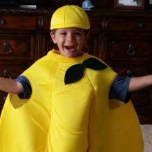 Cooper in a lemon suit