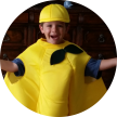 Cooper in a lemon suit
